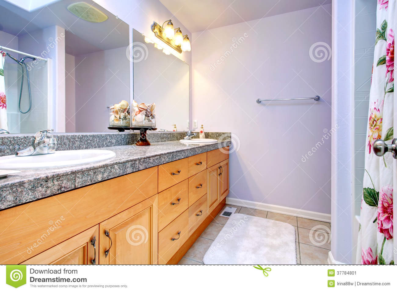 Royalty Free Stock Photo. Download Light Lavender Bathroom ...