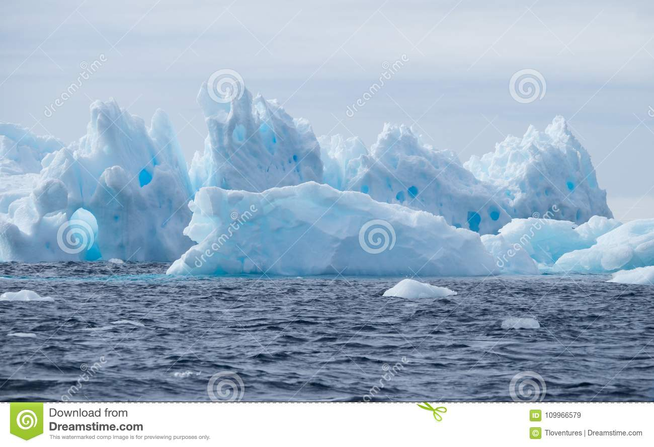 Icebergs with Holes at a Distance