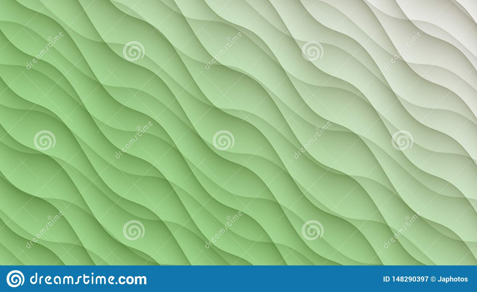 Light Mint Green And White Diagonal Curves Abstract