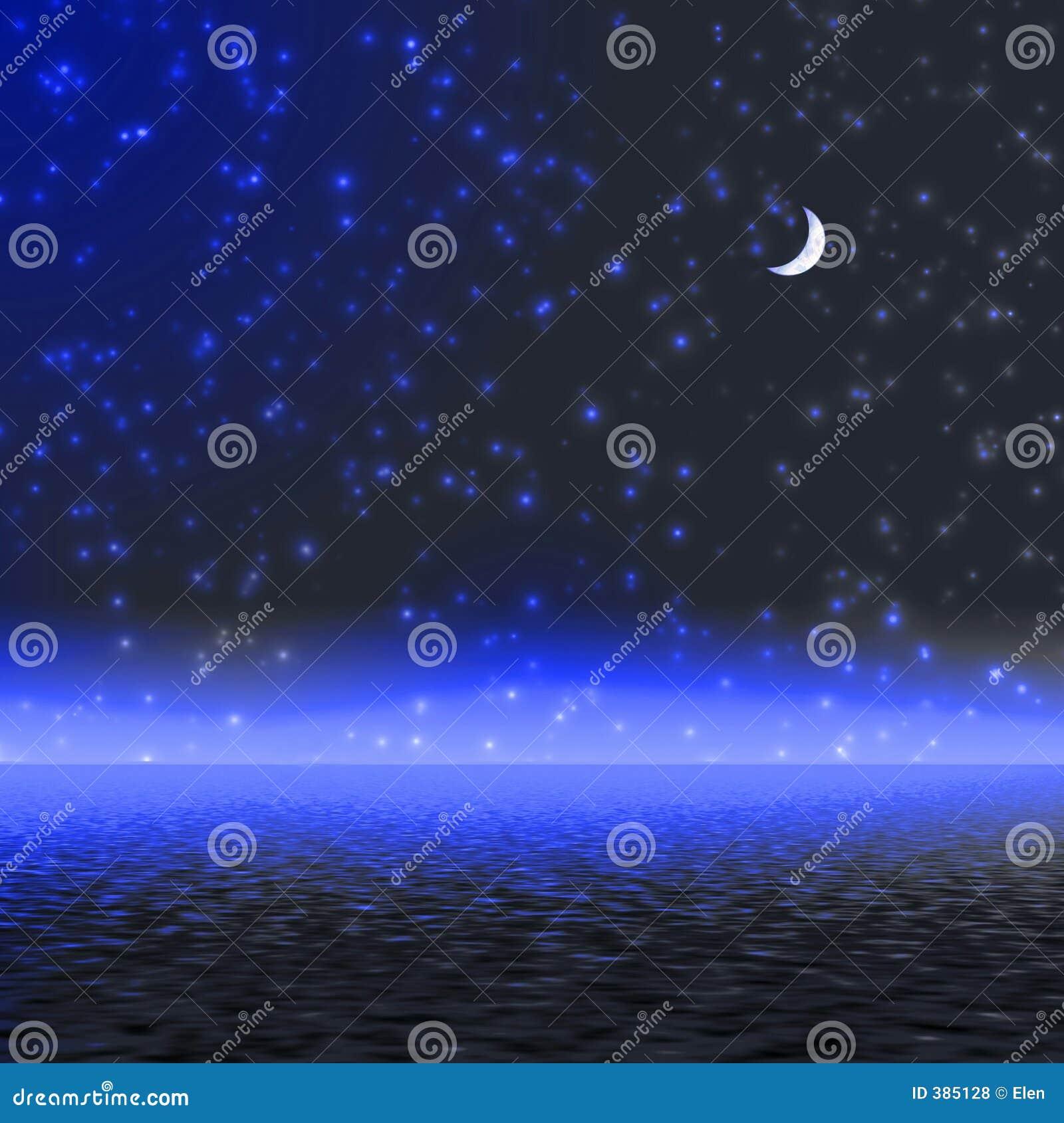 Light moon mystical night