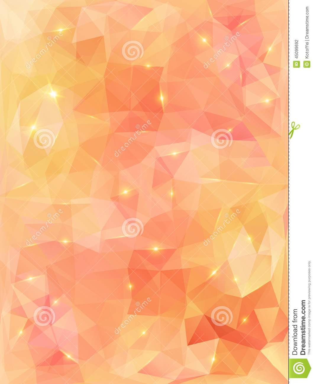 Light Orange Abstract Polygonal Background. Stock Vector ... for Background Pattern Light Orange  110yll