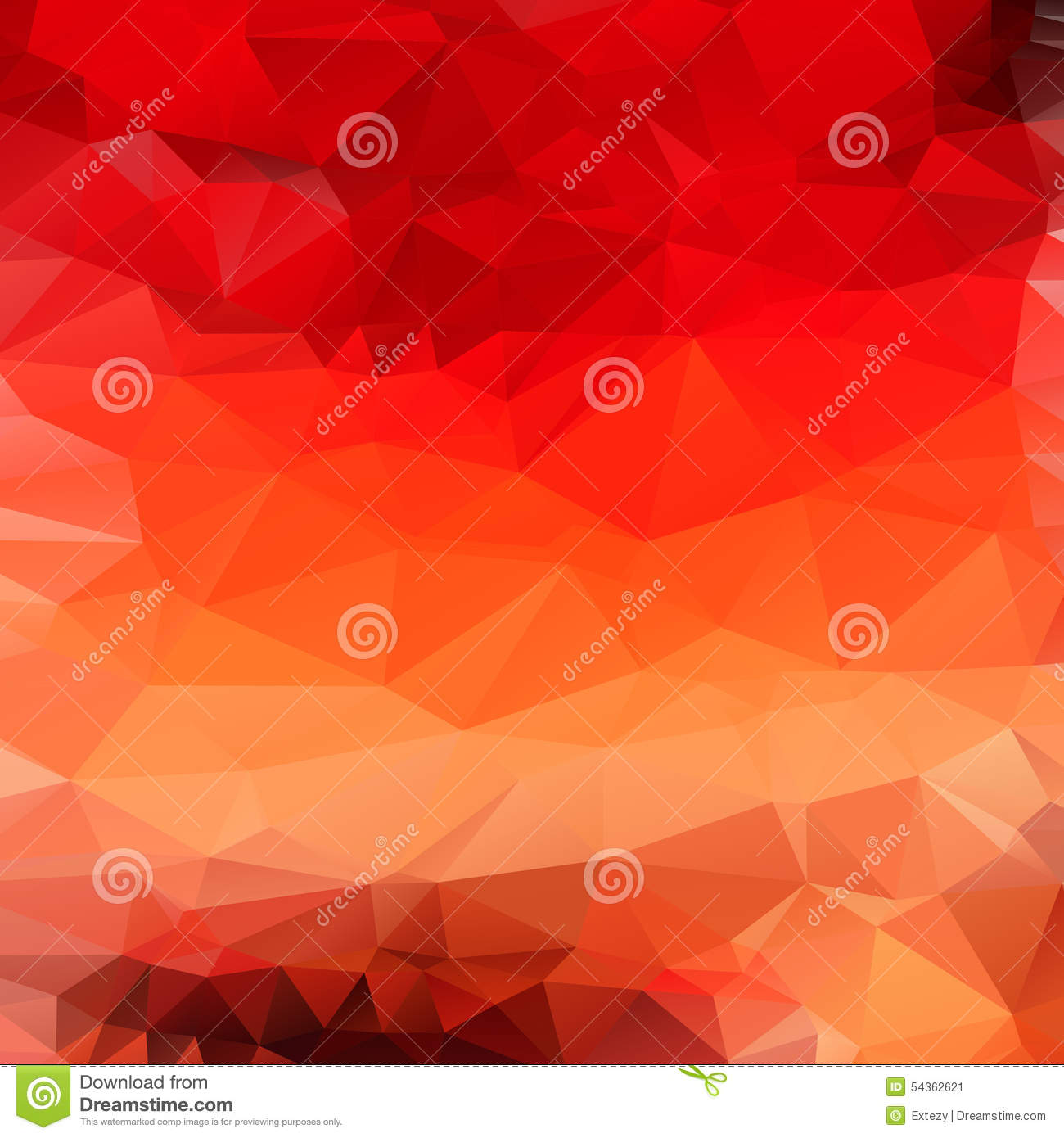 Light orange red abstract polygonal background