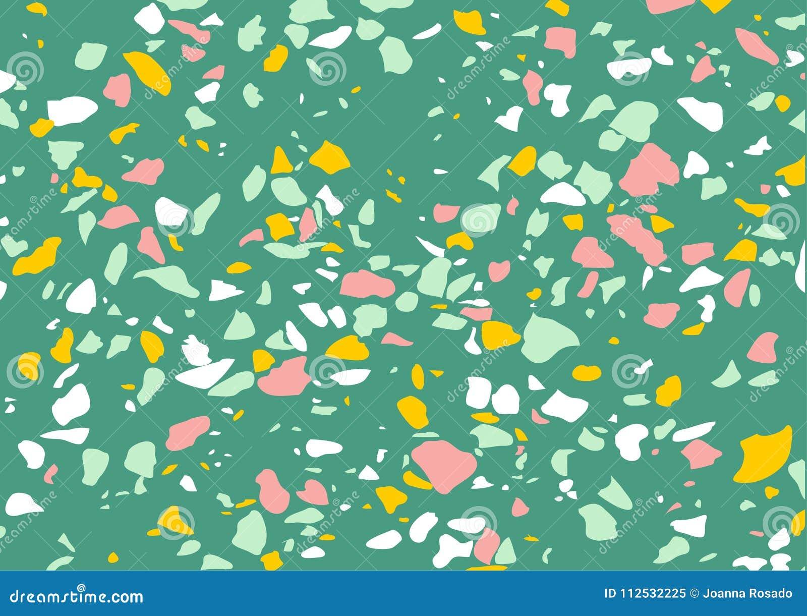 Download Terrazzo Marble Vector Texture Trendy Background Floor Pattern Surface Modern Interior Design