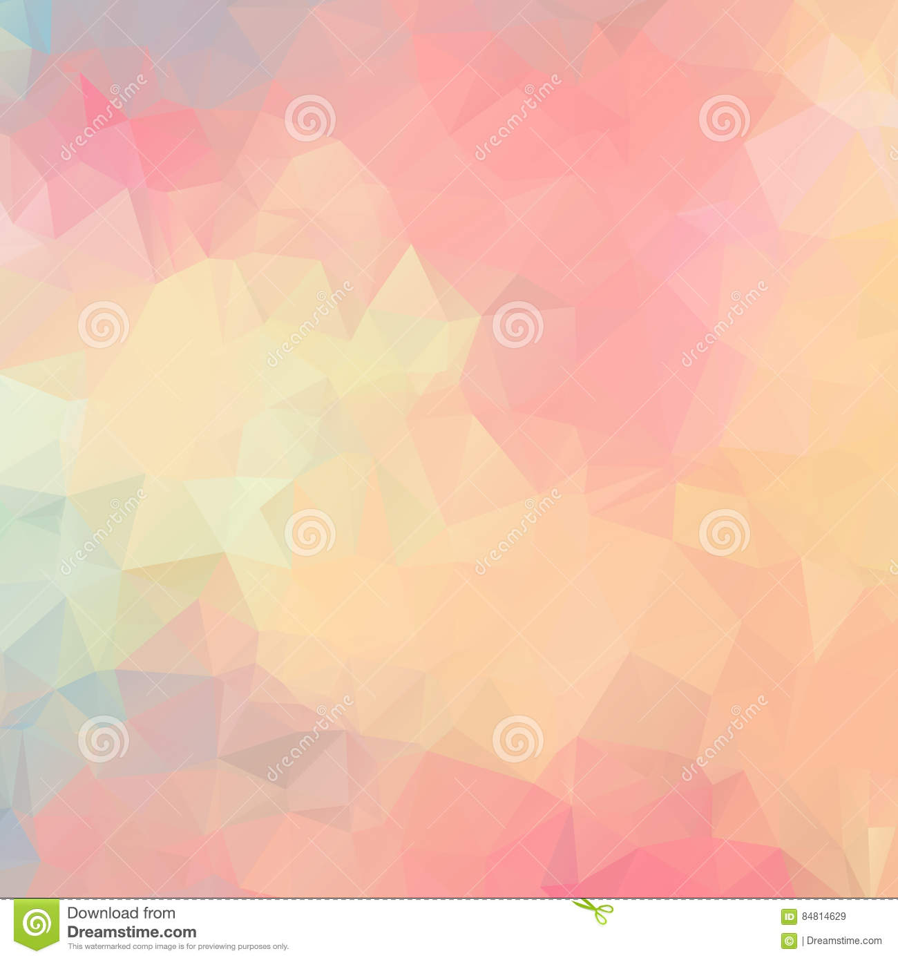 Light Pink Background Polygon. Abstract Pattern. Stock ...