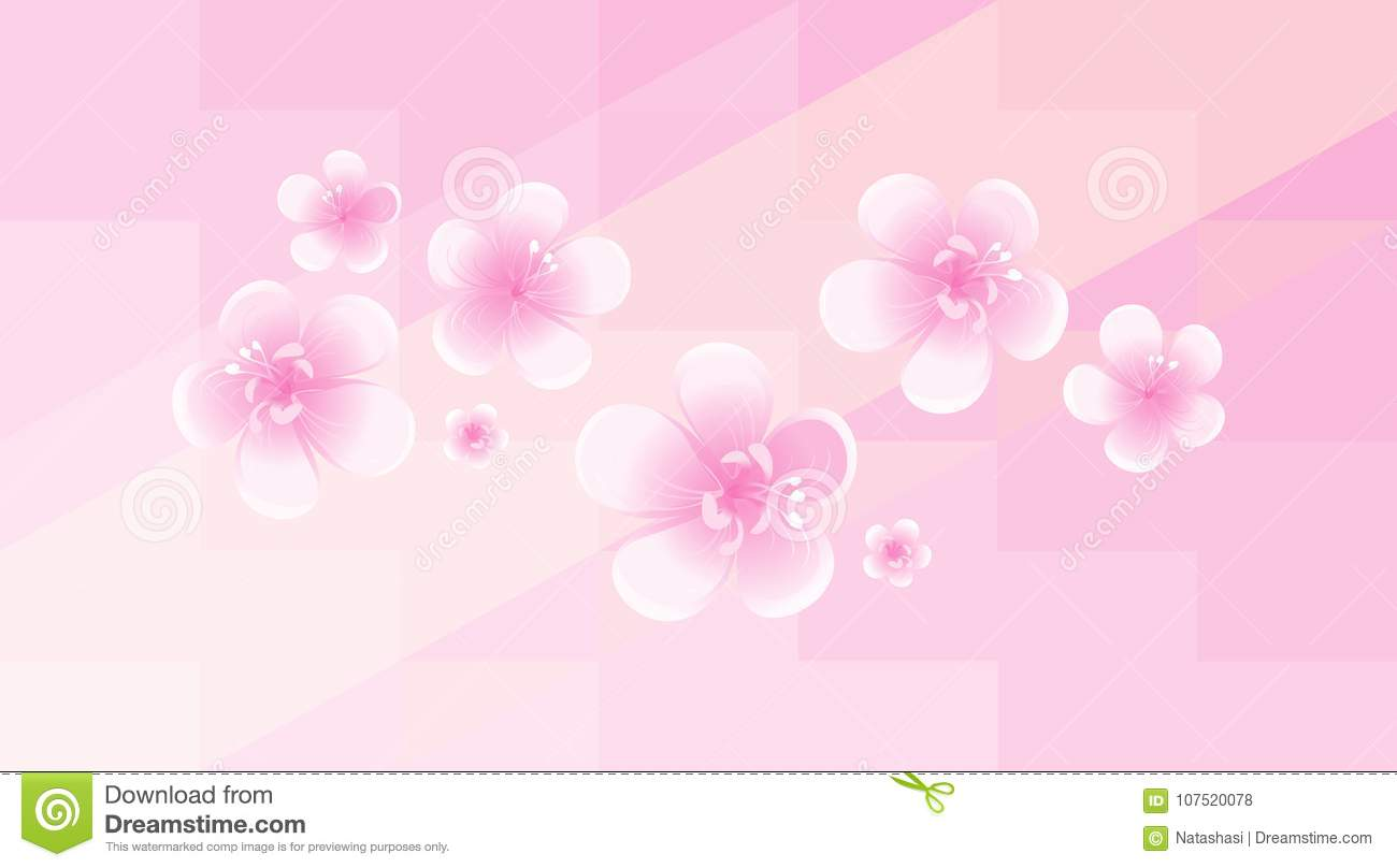 Light pink flowers isolated on soft pink polygonal background apple light pink flowers isolated on soft pink polygonal background apple tree flowers cherry mightylinksfo