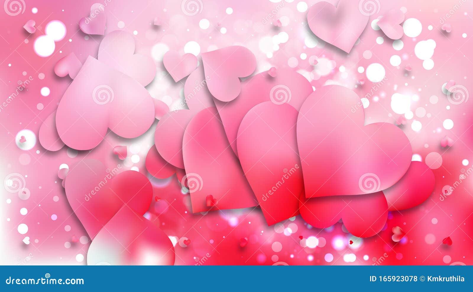 Light Pink Heart Wallpaper Background Stock Vector Illustration Of Background Romance 165923078
