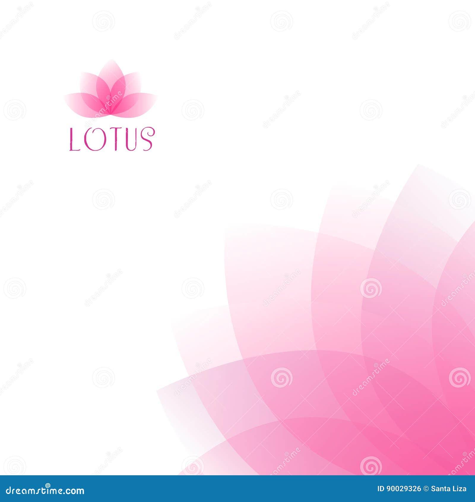 Light pink lotus flower background stock illustration light pink lotus flower background mightylinksfo