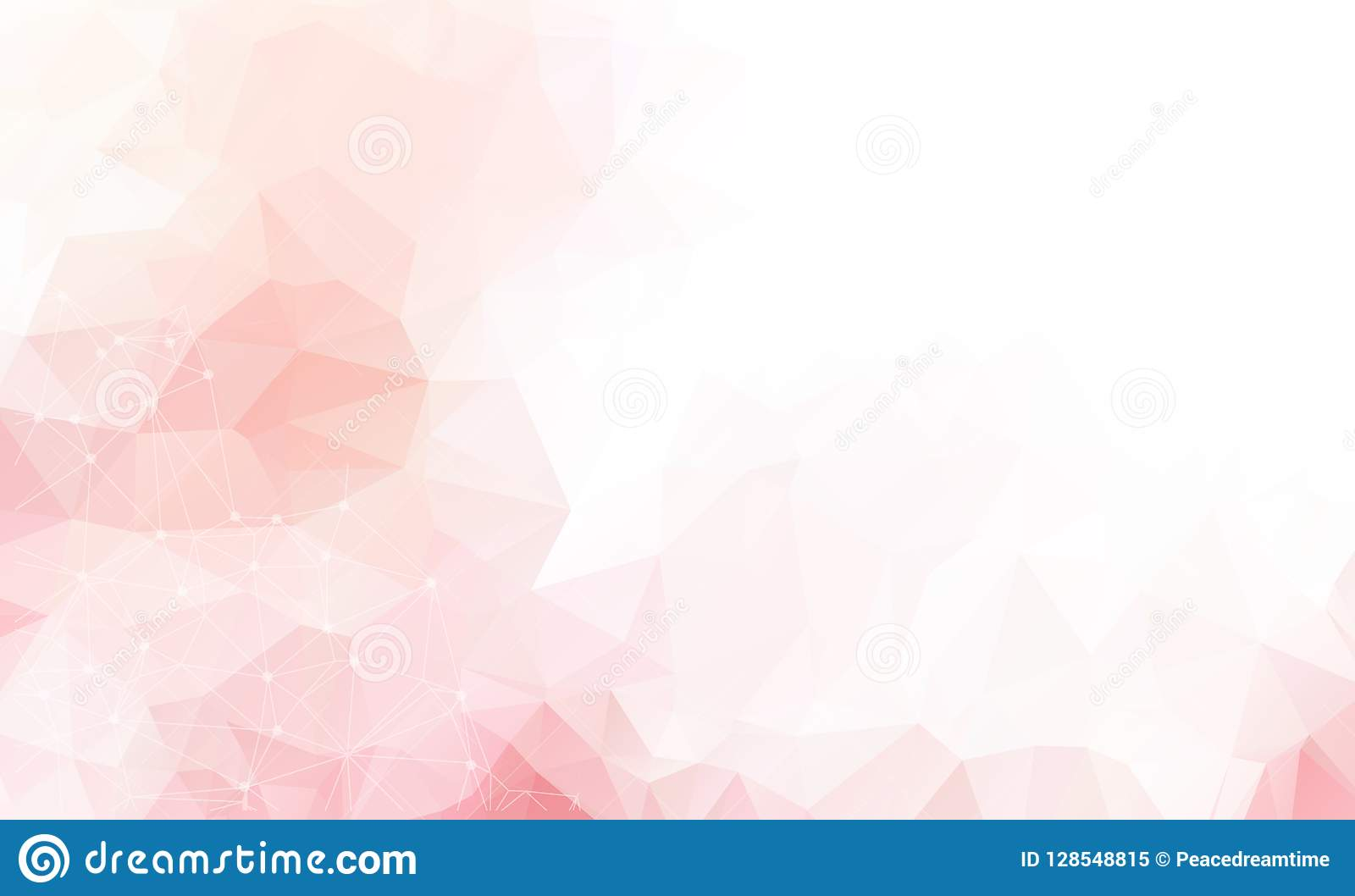 Light Pink vector background with dots and lines. Abstract illustration with colorful discs and triangles. Beautiful design for yo