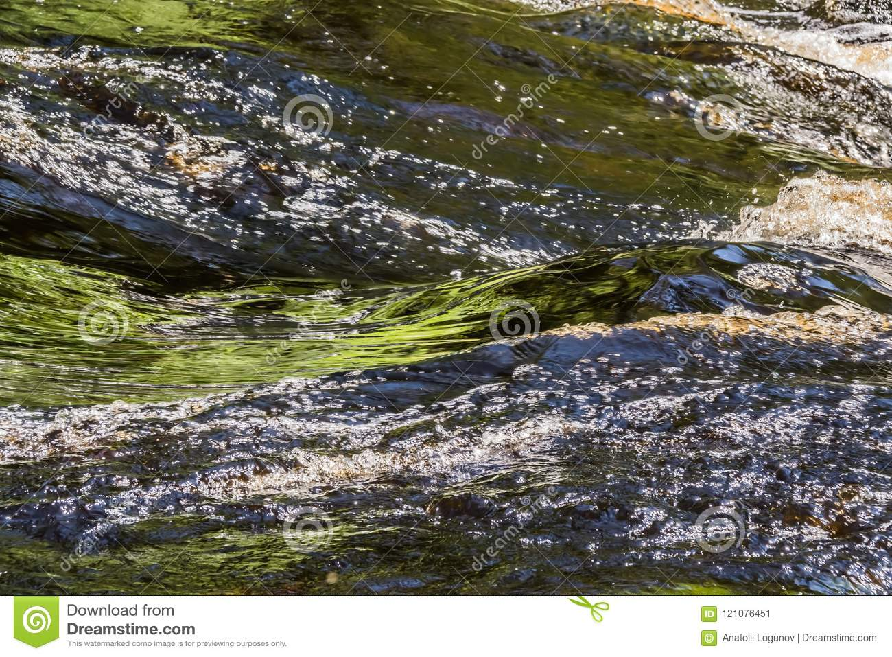 Color waves and whirlpools of the river