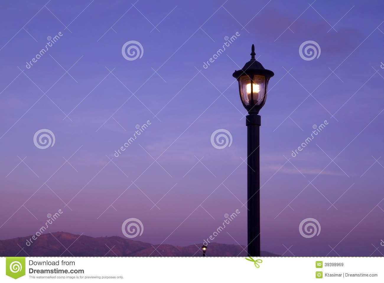 Download Light pole stock image. Image of fluorescent, vertical - 39398969