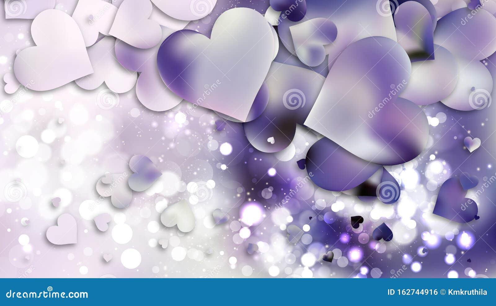 light purple heart wallpaper background illustration 162744916
