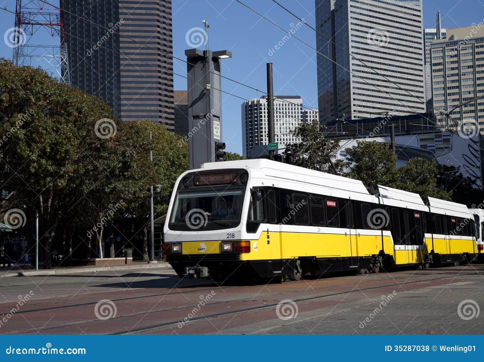 Light rail train in Dallas editorial stock photo  Image of