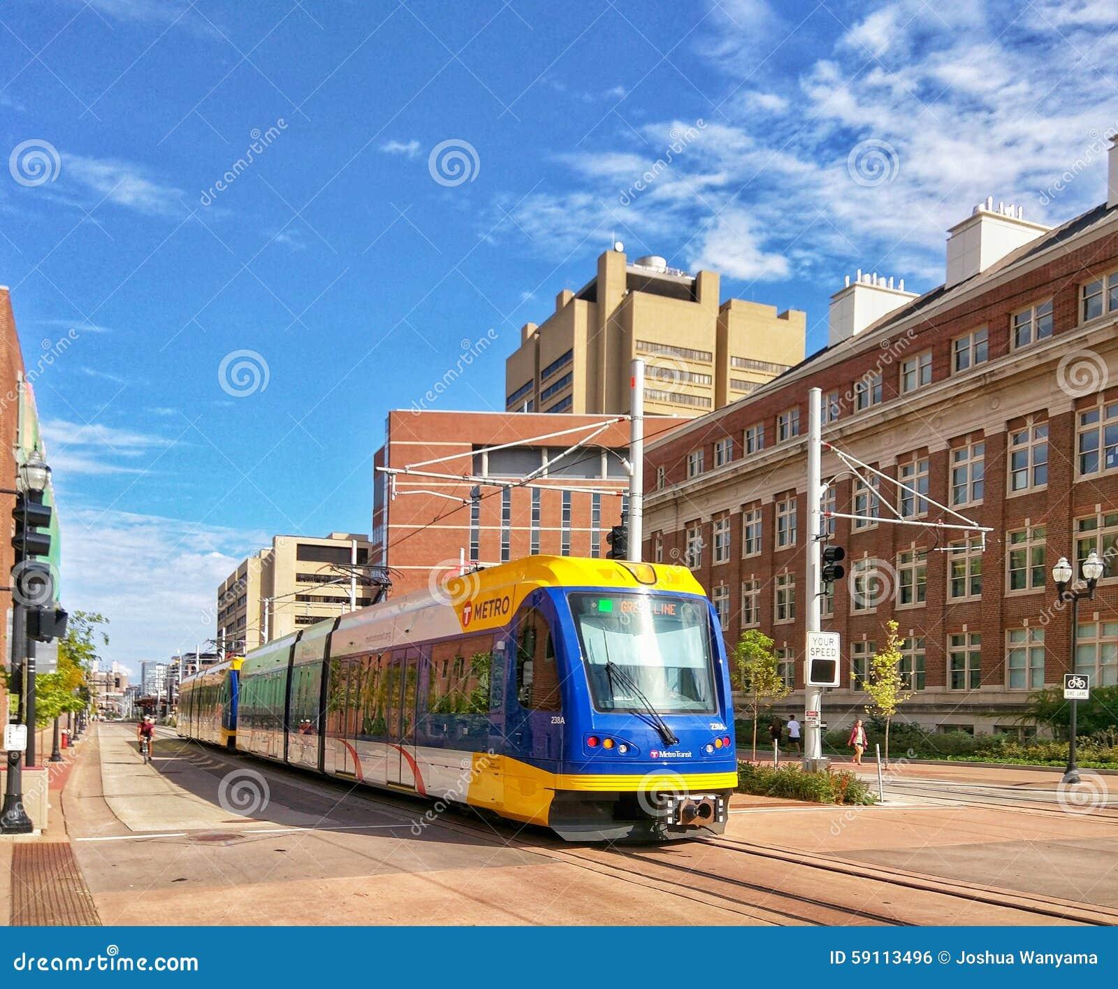 Light Rails: Light Rail Train Royalty-Free Stock Image