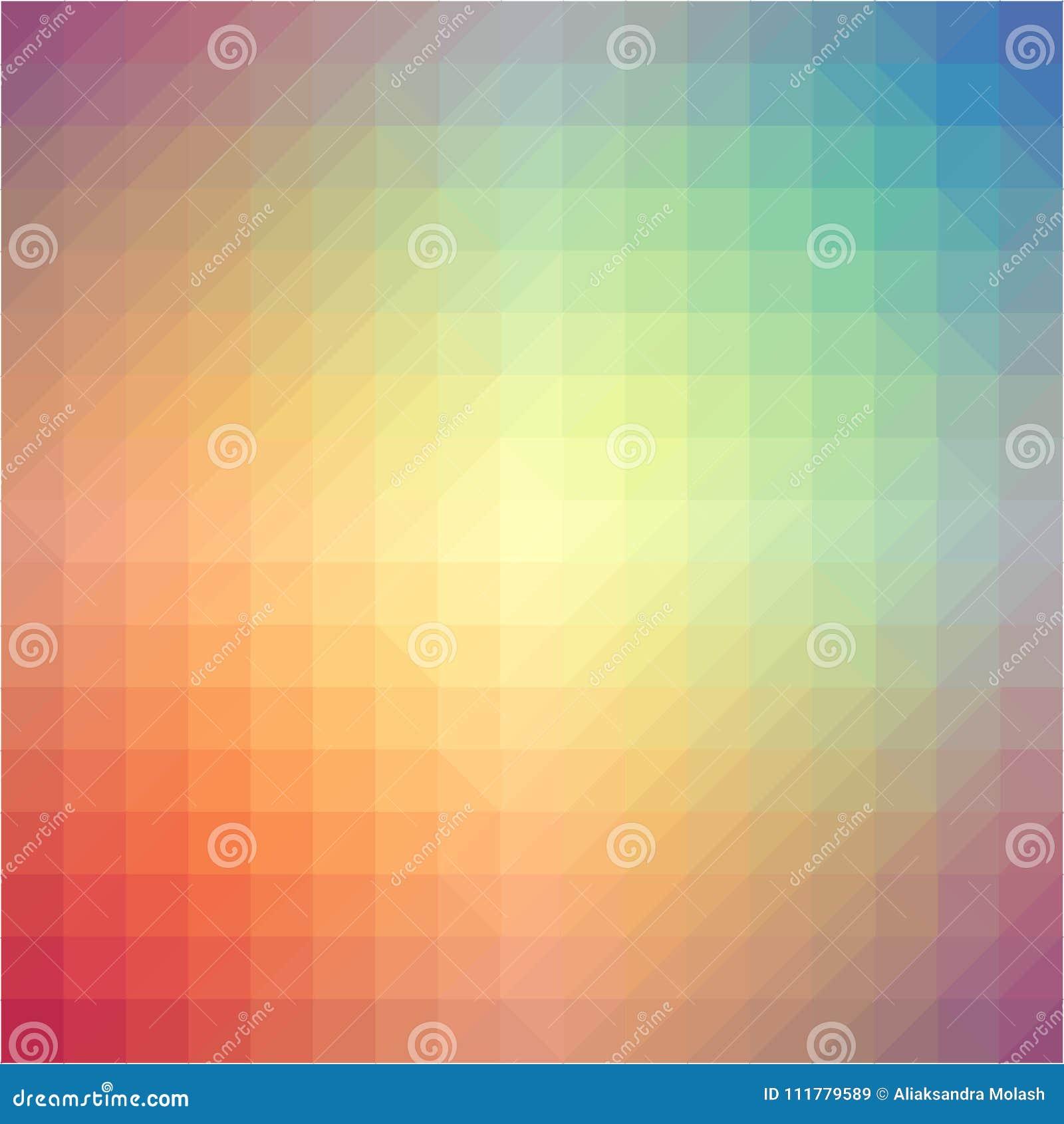 Light rainbow triangle gradient background