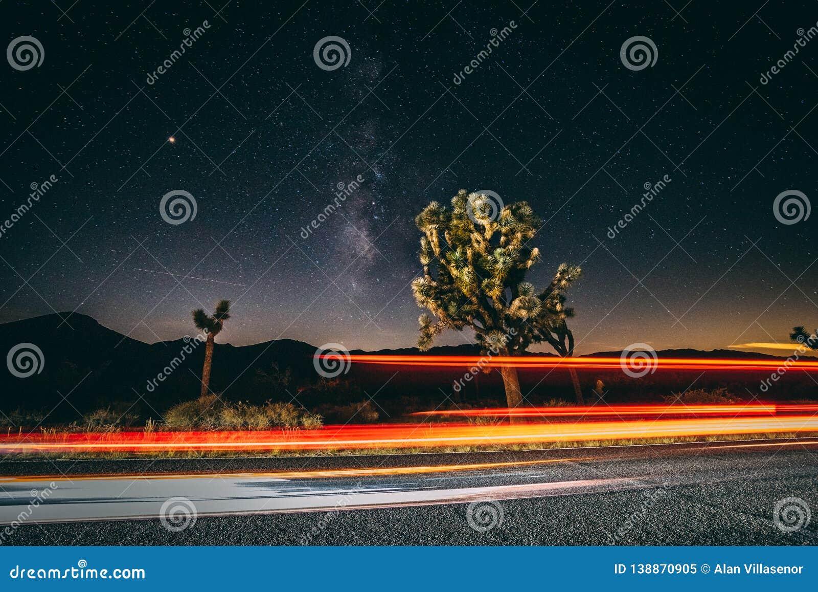 Light Rays and Milky Ways take over Joshua Tree