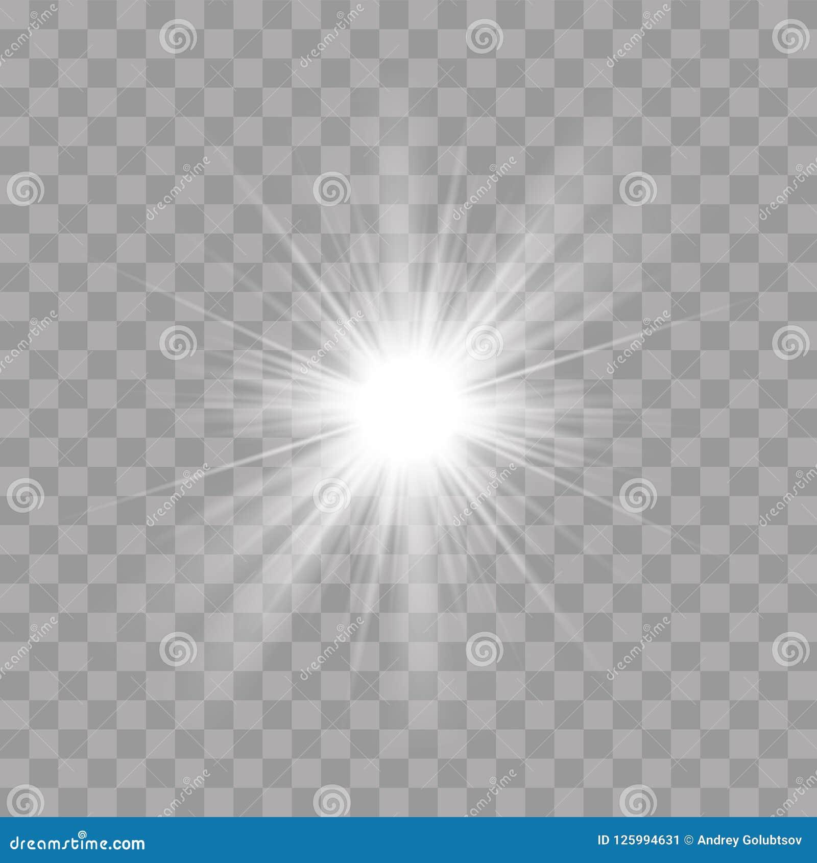 Light rays shine radiance flash sun star effect