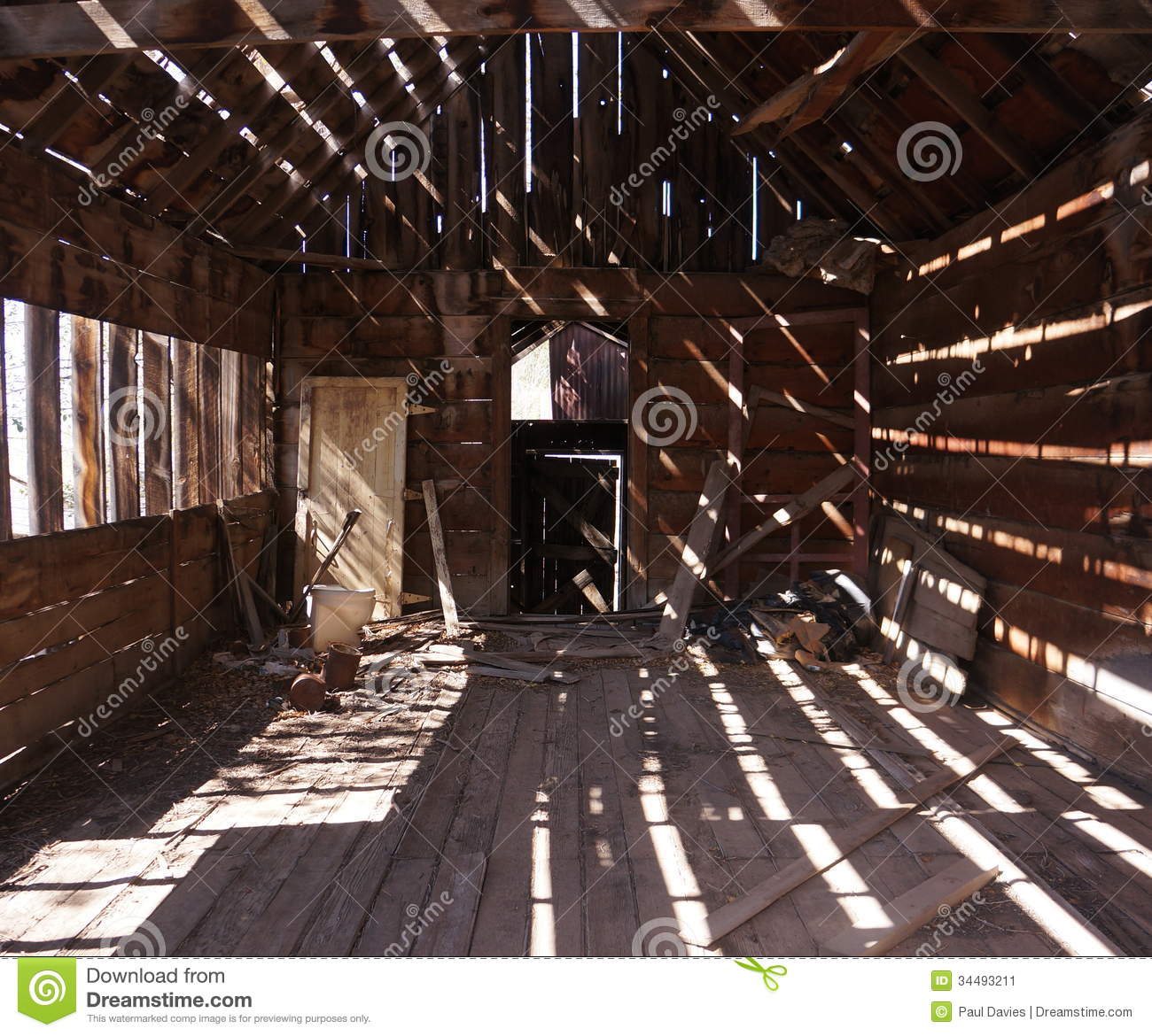 Light And Shade In An Old Shack Stock Image Image 34493211