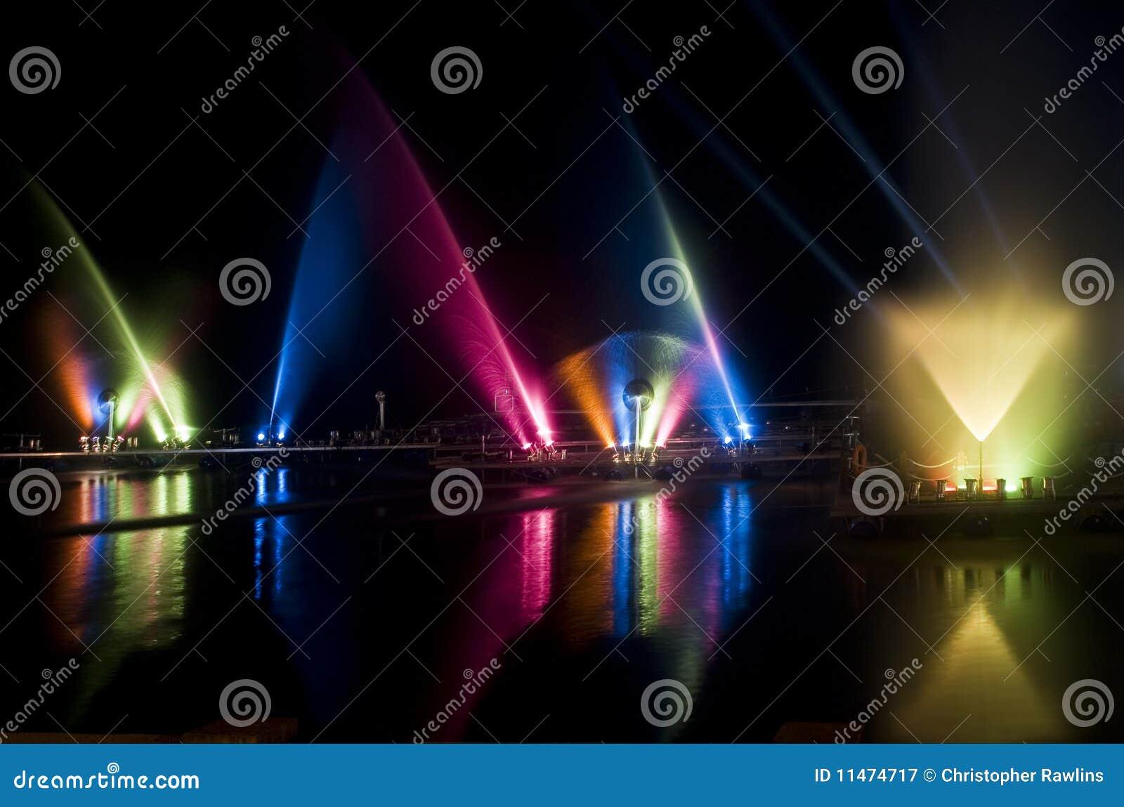 Light Show on a lake