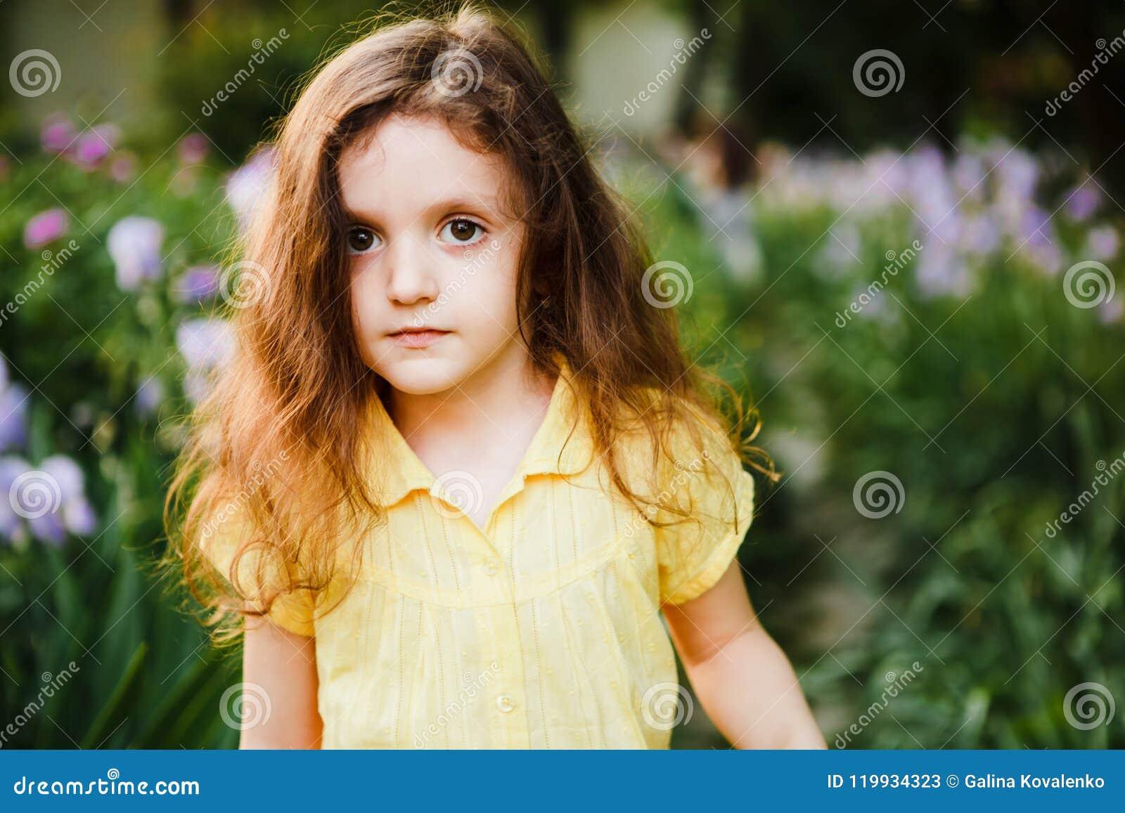 Curly light skinned girl