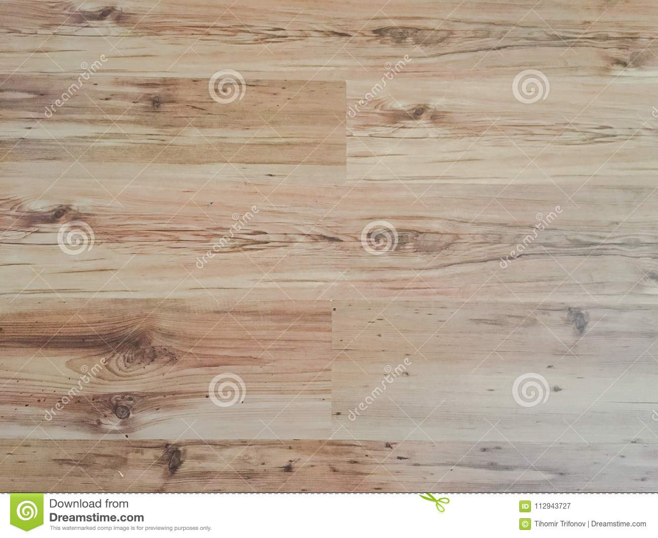 Light soft wood floor surface texture as background, wooden parquet. Old grunge washed oak laminate pattern top view.