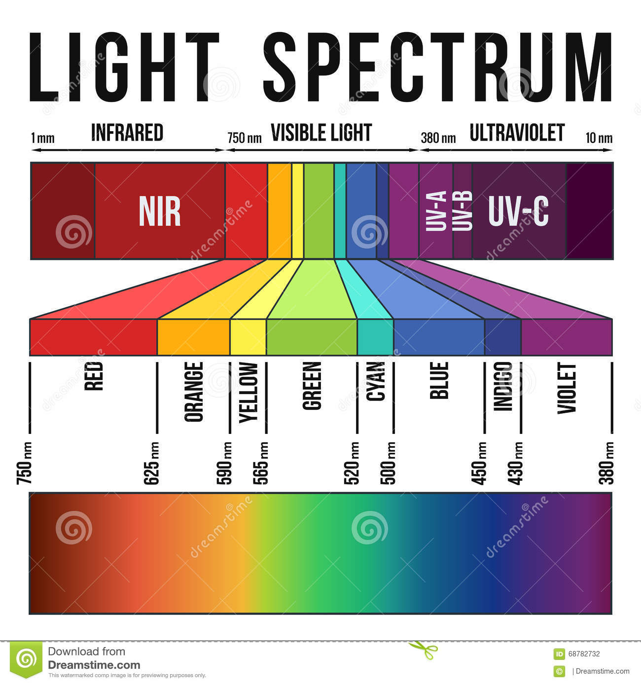 light spectrum stock illustration  image of design  infographic