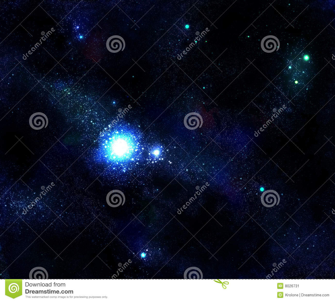 Light Star And Blue Space Galaxy Stock Image - Image: 8026731