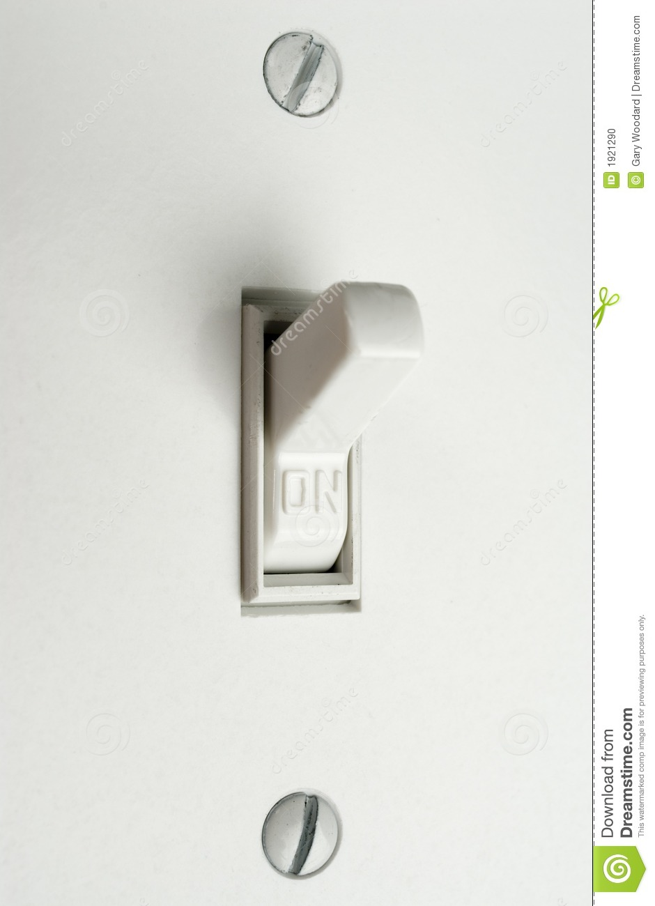 Light Switch. stock photo. Image of lamp, wiring, wall - 1921290