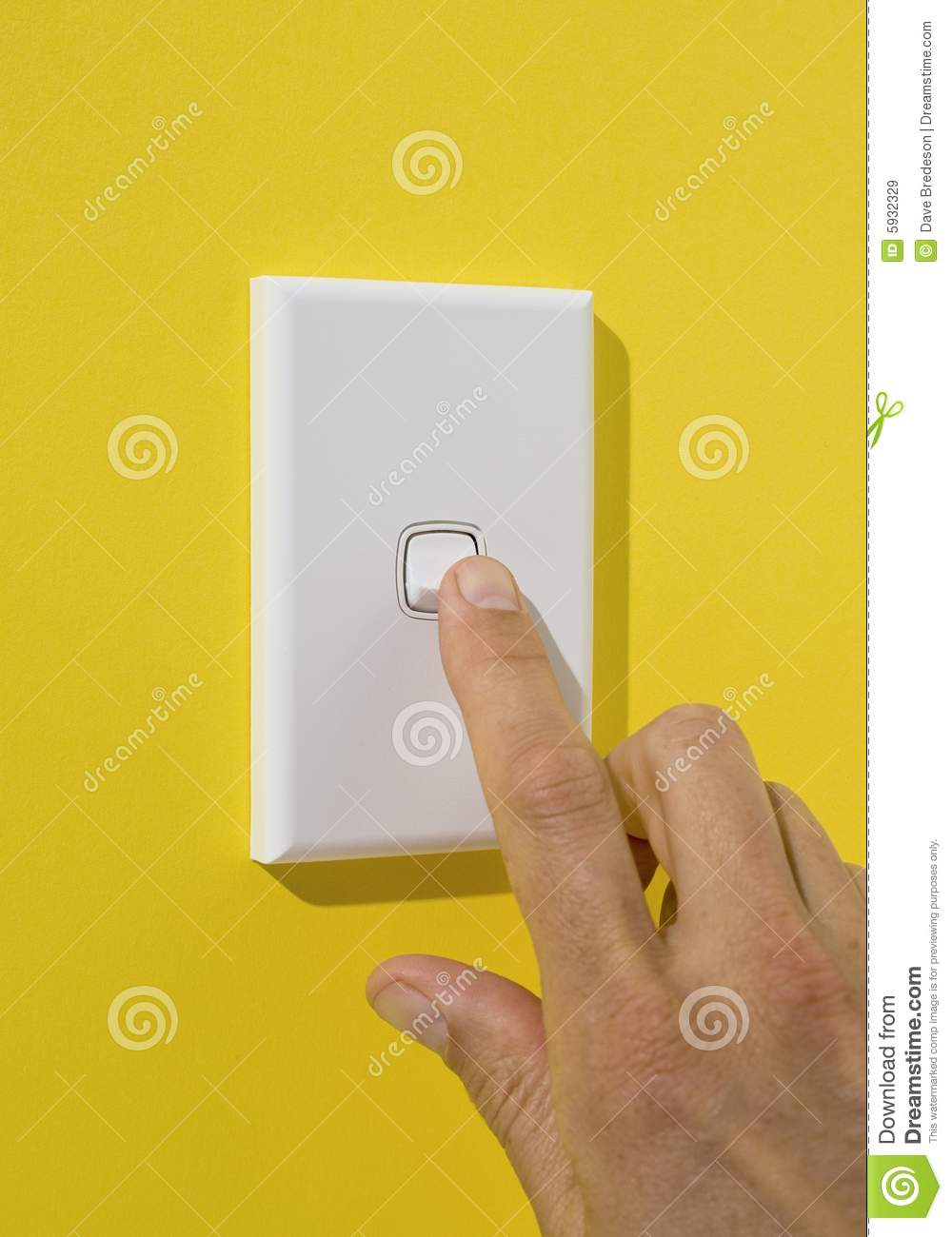 Light Switch Being Pushed