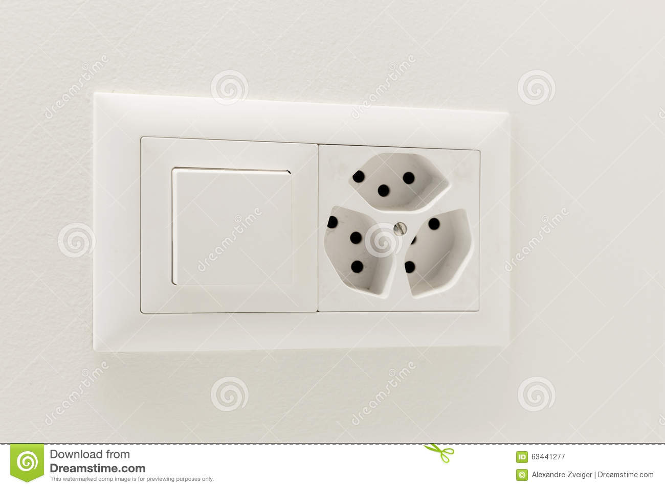 Light Switch And Electrical Outlet Stock Photo Image 63441277