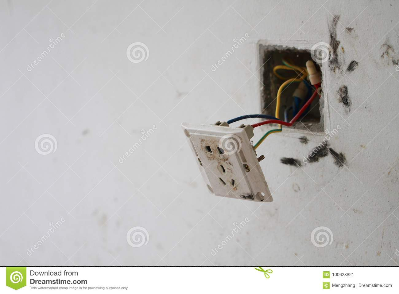Renovation Light Switch Stock Image Of Home 100628821 Electrical Wiring Download