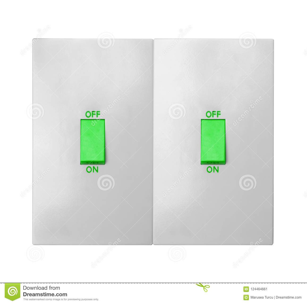 Light Switch Isolated On White Stock Image - Image of circuit ...