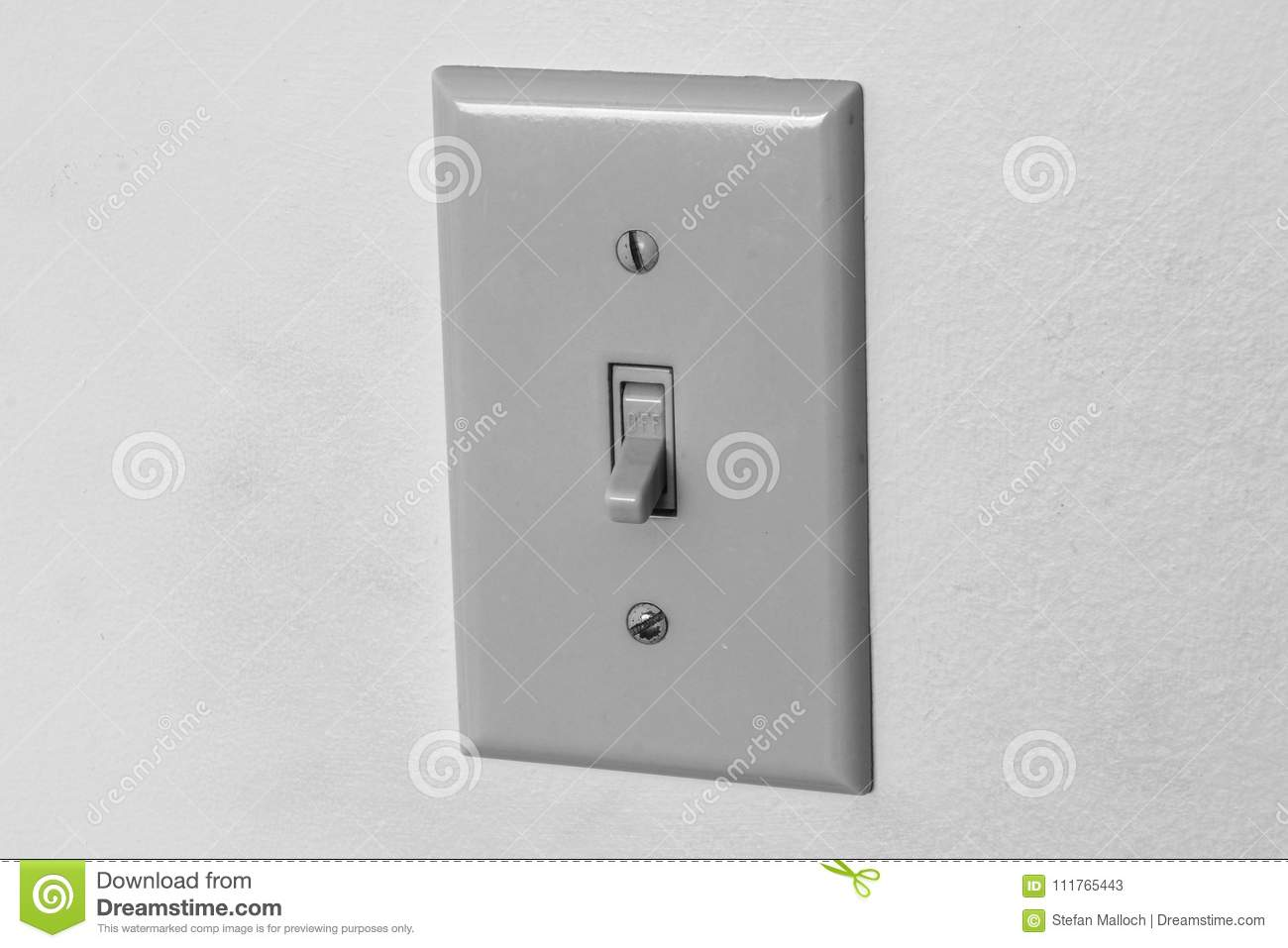 Light Switch In The Off Position Stock Image - Image of plastic ...