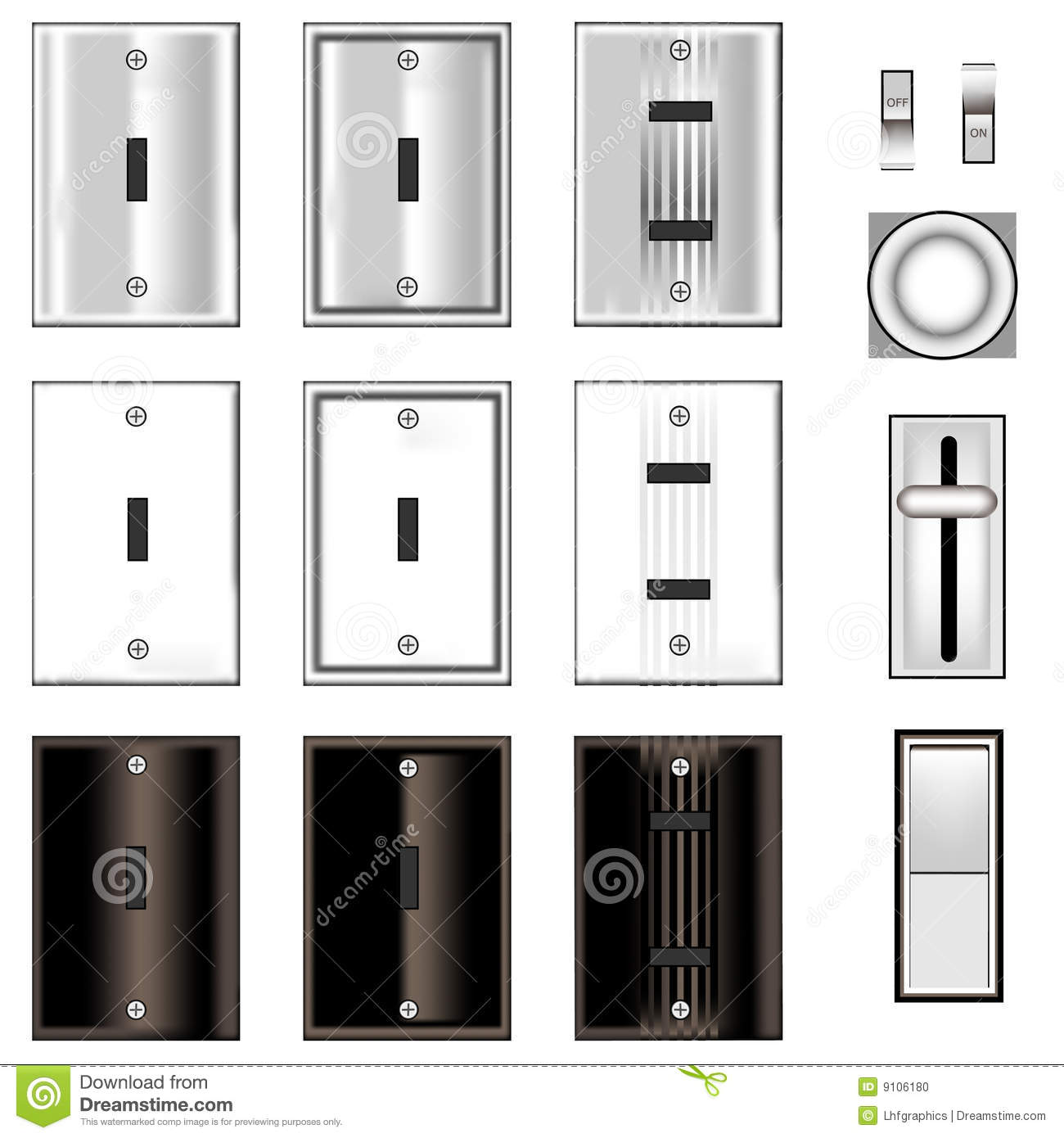 Switch Faceplate Light Switches And Faceplates Stock Vector  Image 9106180