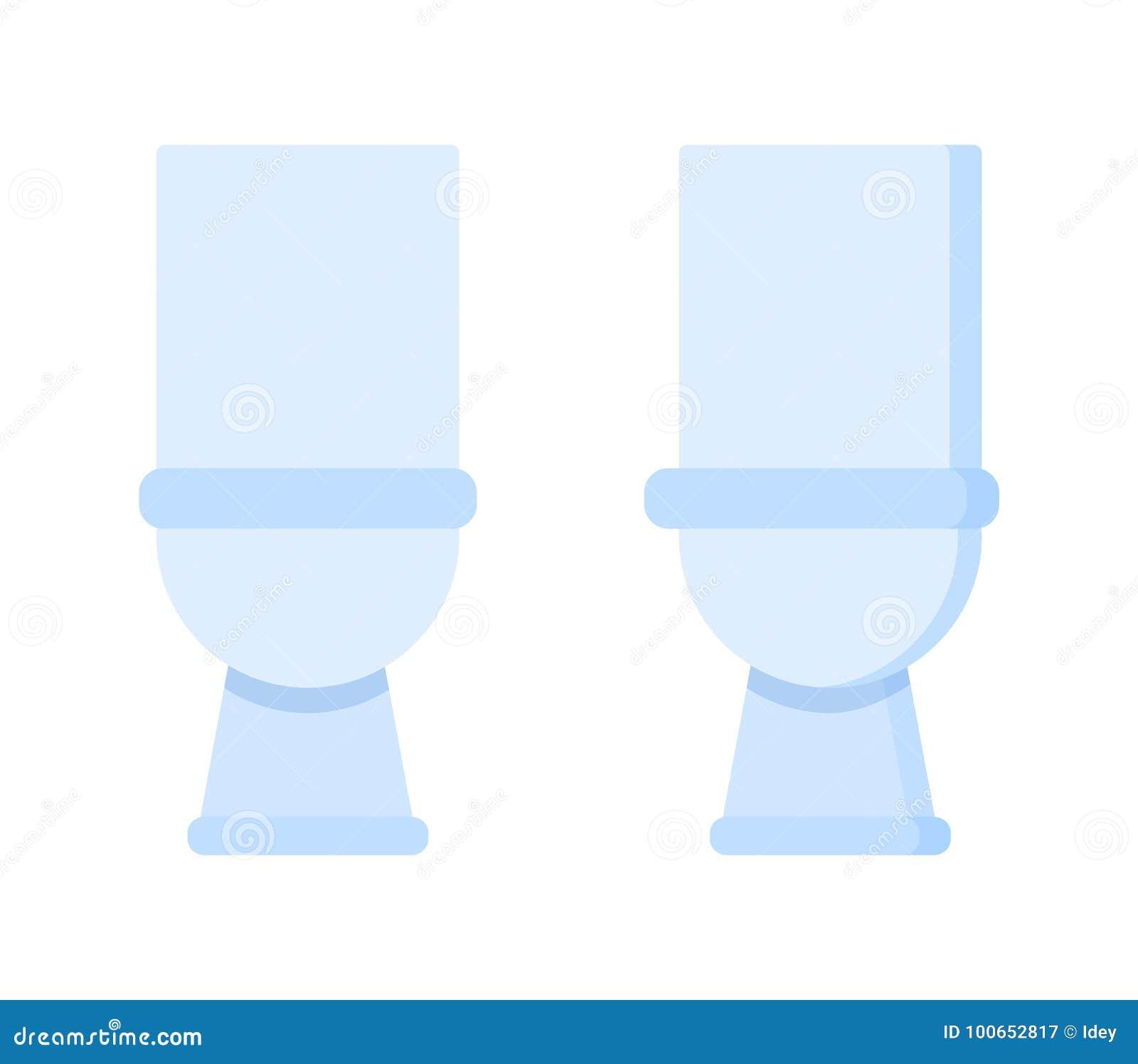 Light Toilet Room. Home Furniture, White Ceramics Realistic Lavatory ...