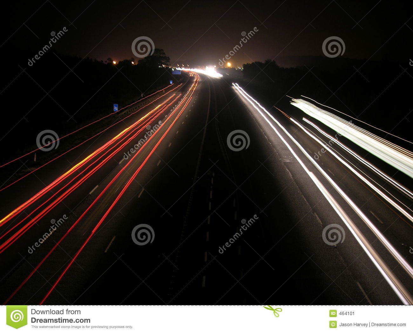 Download Light Trails stock image. Image of motorway, tail, dark - 464101