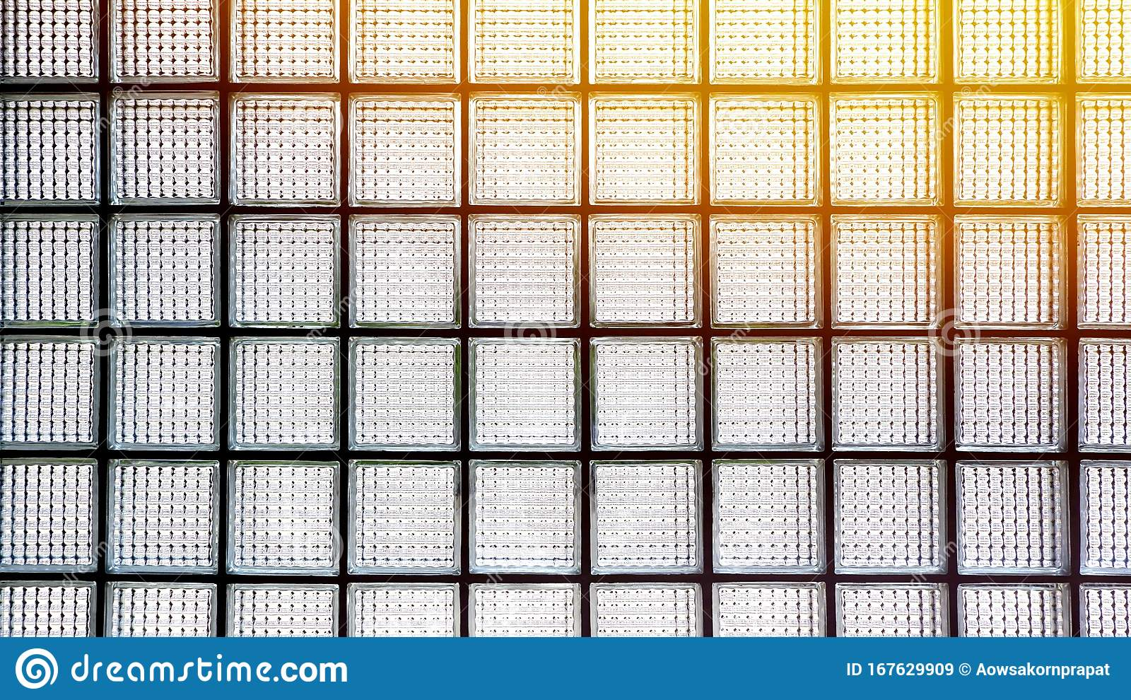 Light Transmission On Surface Of Glass Block Wall Background Stock Image Image Of Decoration Interior 167629909