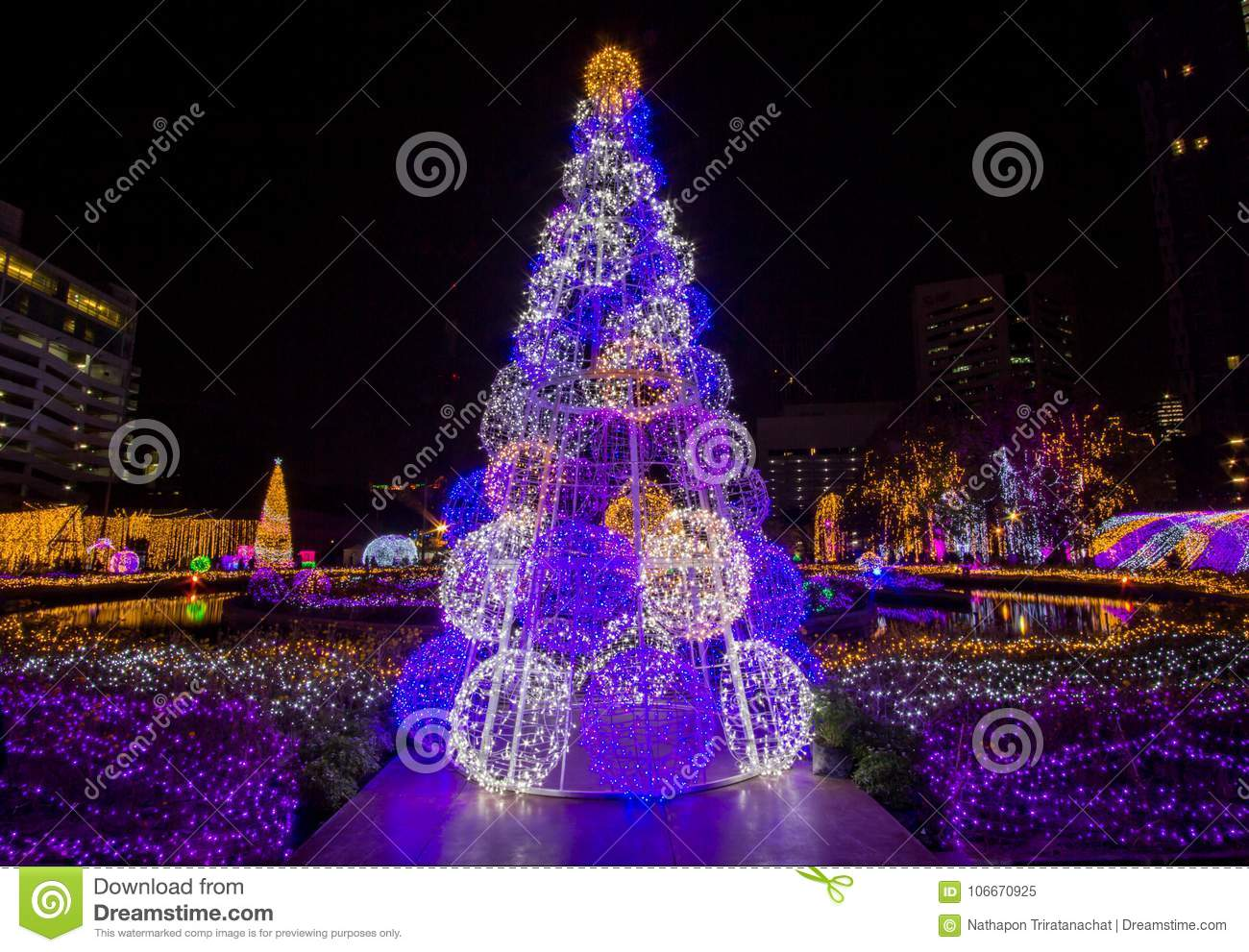 download light up christmas tree to celebrate christmas and new year festival stock image image