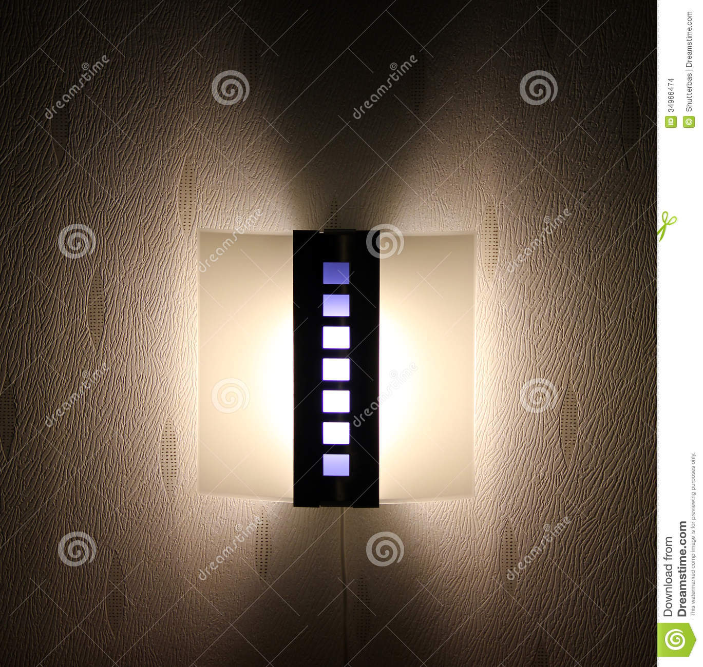 Light On Wall Stock Images - Image: 34966474
