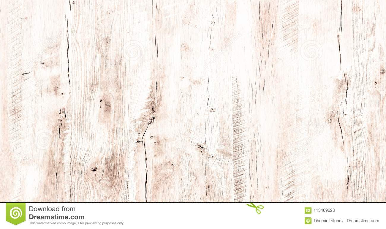 Light White Wash Soft Wood Texture Surface As Background. Grunge Whitewashed  Wooden Planks Table Pattern Top View