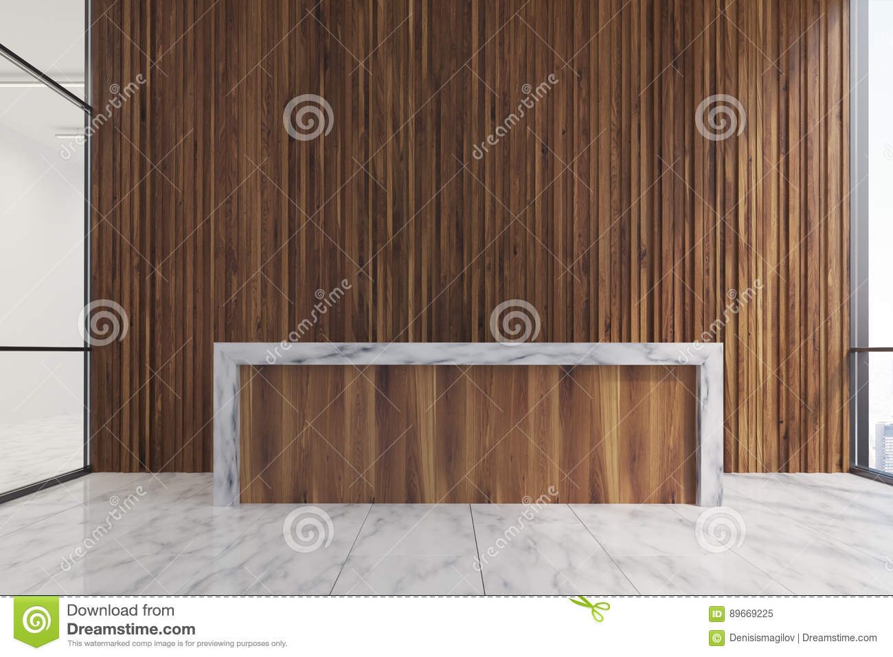 Wooden Walls Light Wood Reception Wooden Wall Stock Illustration Image  89669225