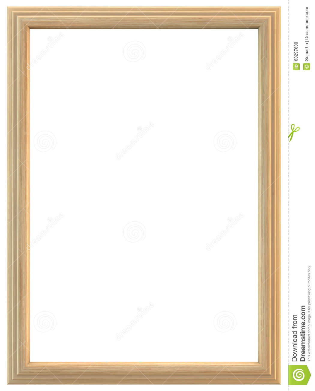 Light Wooden Frame Stock Photo Image Of Isolated Photo 60297688