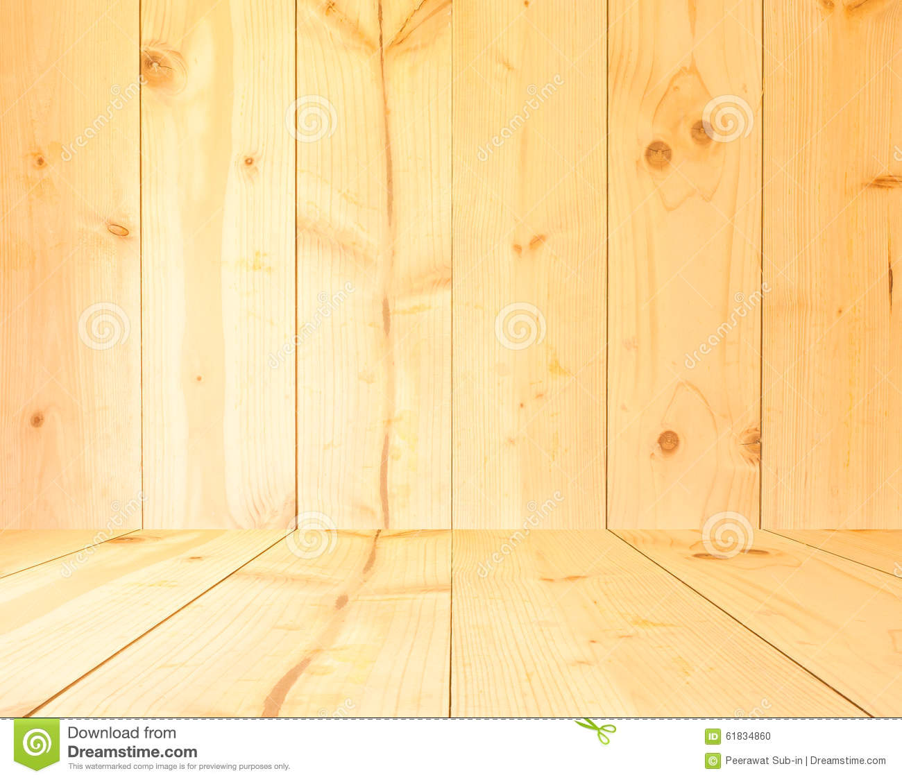 Light Yellow Color Wood Texture Background