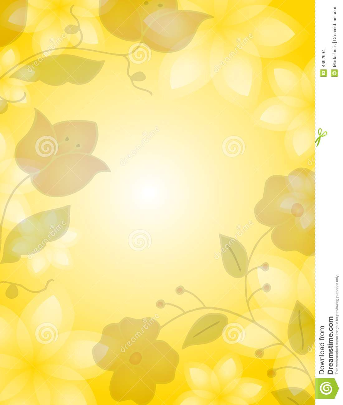 Light Yellow Floral Background Stock Illustration Illustration Of