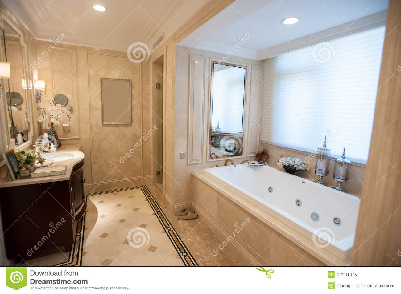 Light yellow marble bathroom stock image image of hotel for Yellow bathrooms photos