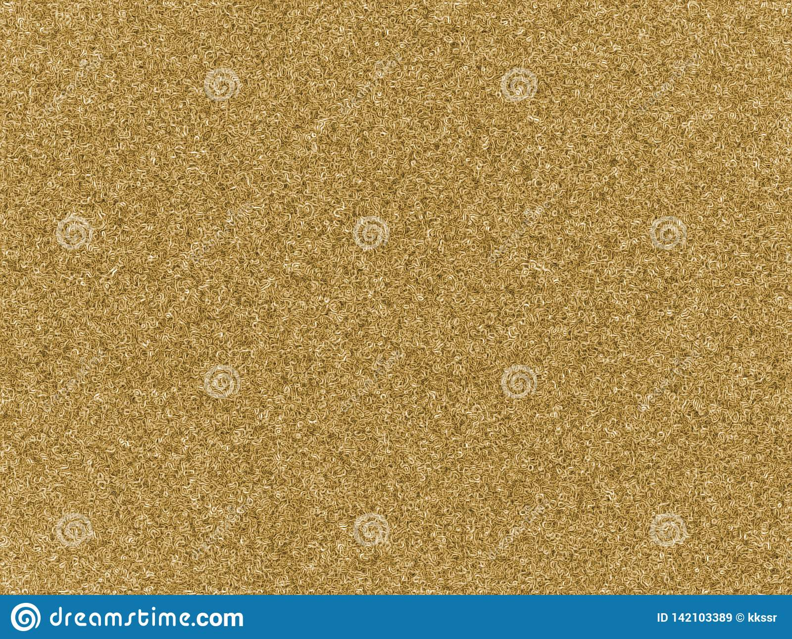 Light yellow natural color of carpet wool seamless texture background. Doodle swirl plastic artificial rug.
