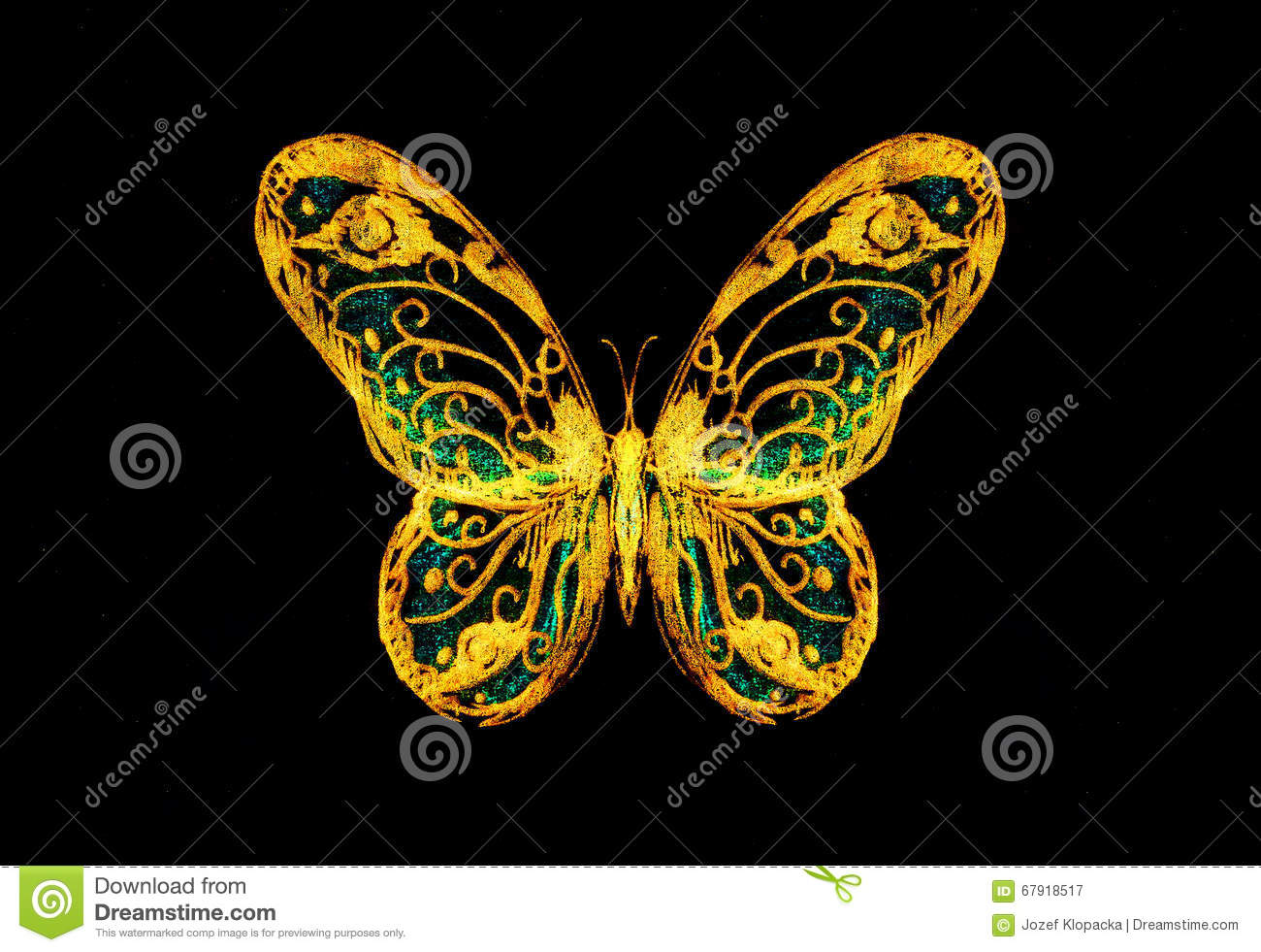 butterfly on yellow color - photo #30