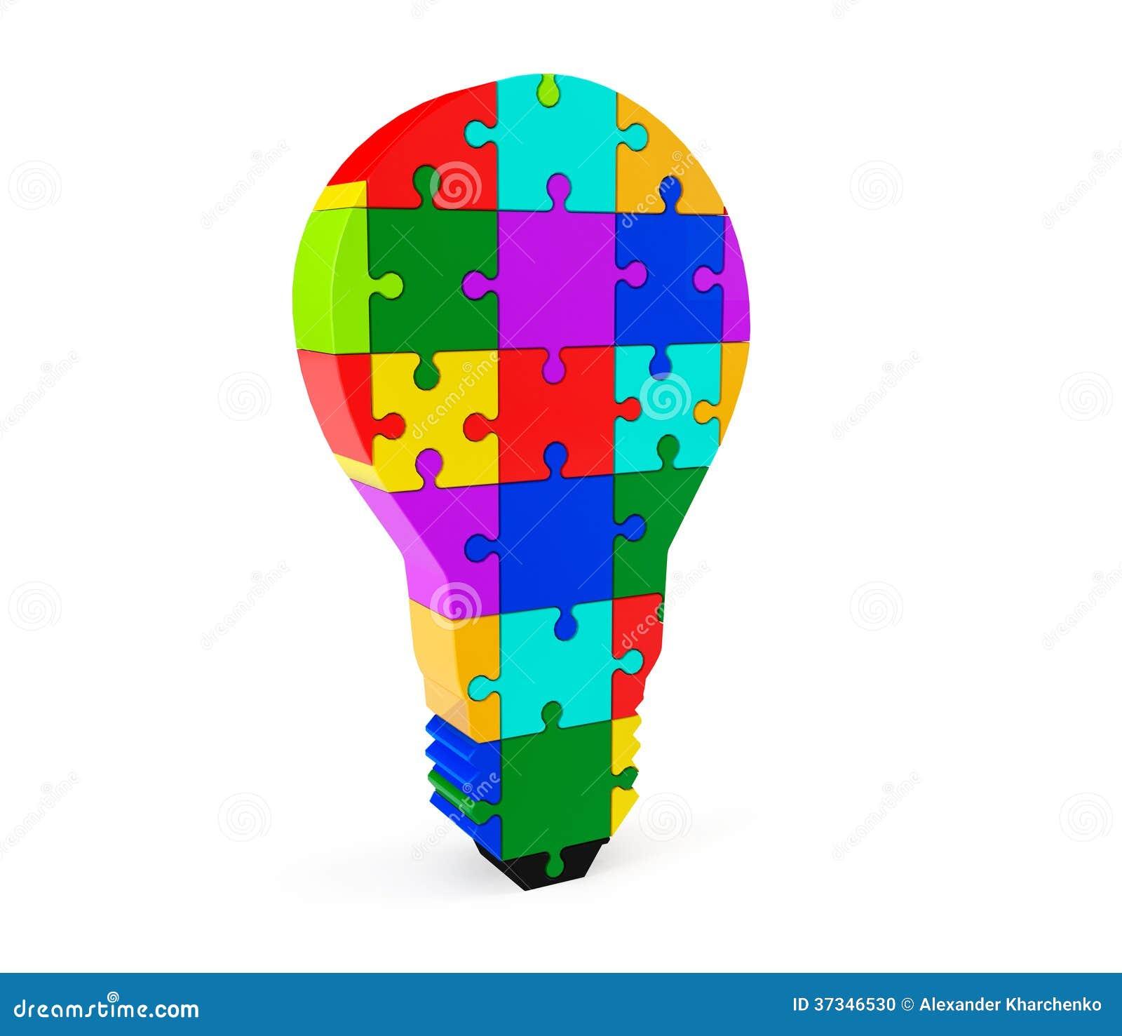 Lightbulb av pusslet