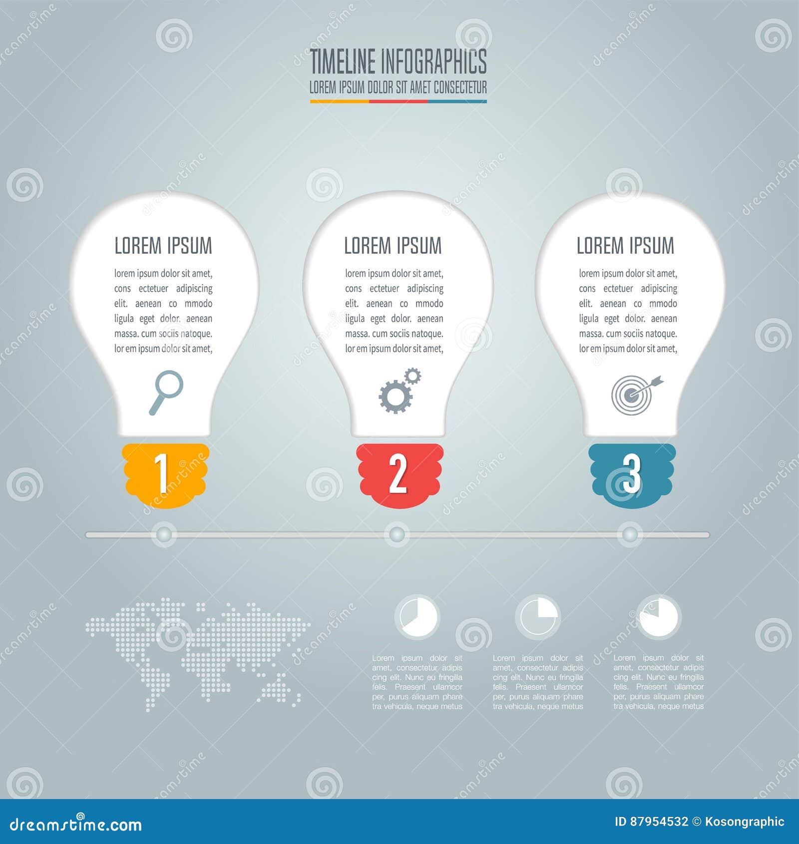 Lightbulb Creative Concept For Infographic Business Stock Diagram Of Incandescent Light Bulb