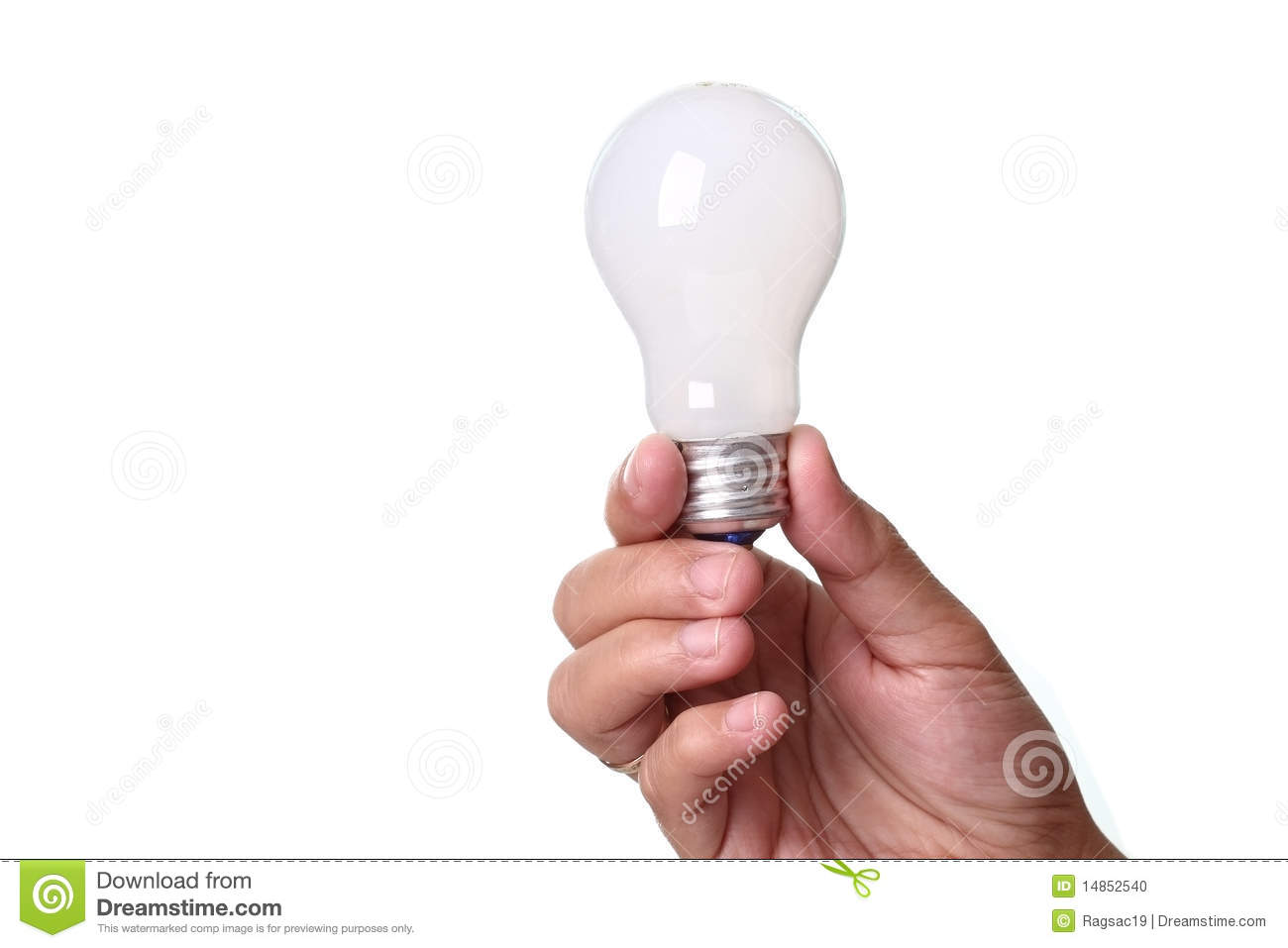 Lightbulb in a hand