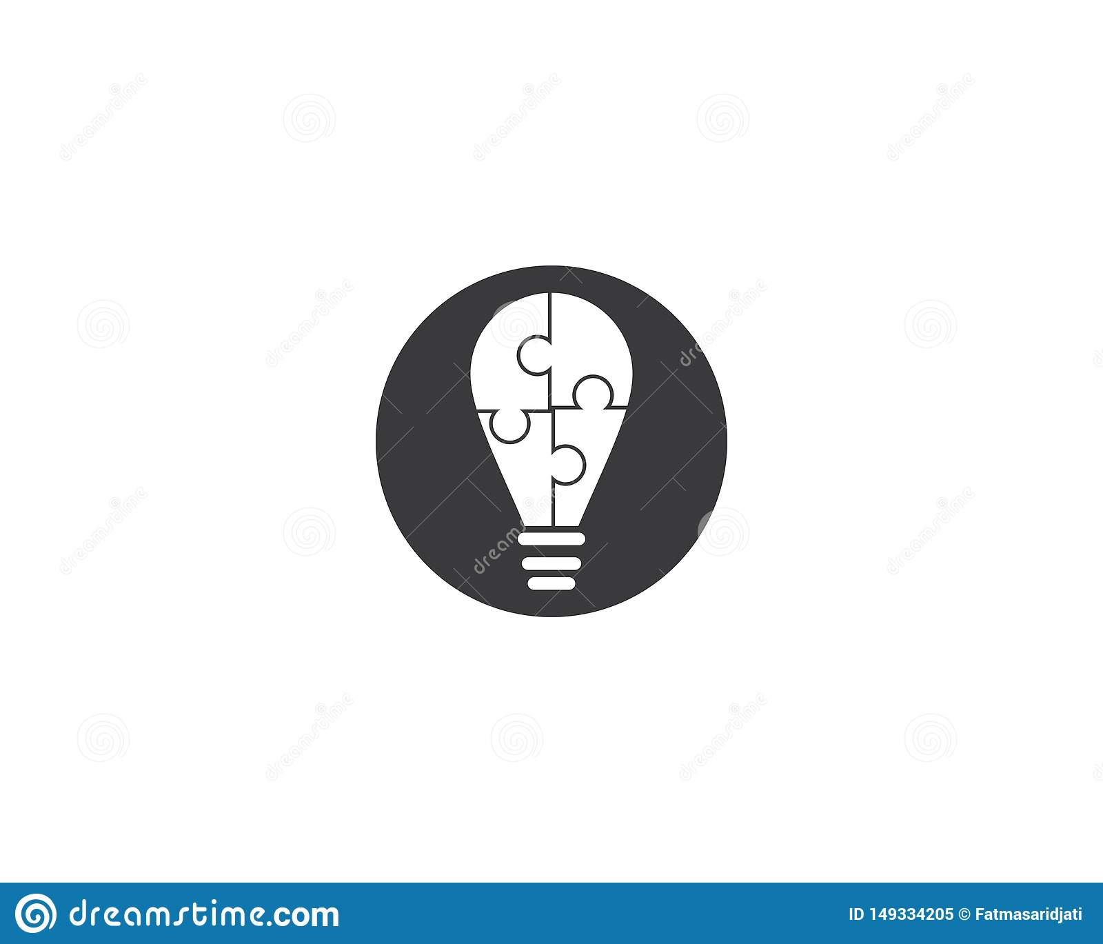 Lightbulb loga szablon